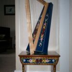 Nicely decorated harp