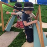 Boys Playing Harp